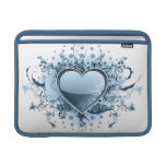 "Blue Emo Heart 13"" MacBook Sleeve"