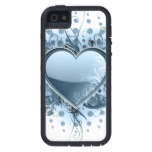 Blue Emo Heart iPhone 5 Cover