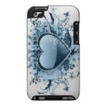Blue Emo Heart iTouch Case