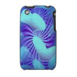 Blue Heart Pattern 3G iPhone iPhone 3 Case