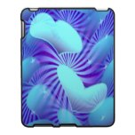 Blue Heart Pattern iPad Case
