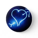Blue Light Heart Button