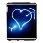 Blue Light Heart  iPad Case