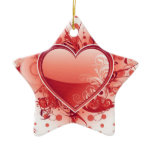 Emo Heart Design Ornaments