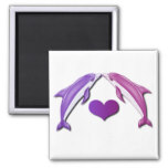 Kissing Dolphins Magnet Refrigerator Magnets