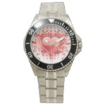 Red Emo Heart Wristwatches